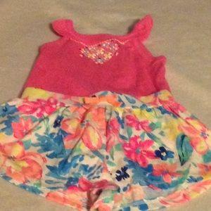 2 piece  floral short outfit
